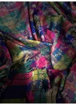 Tartan Jaaldar Embroidered Pashmina Shawl