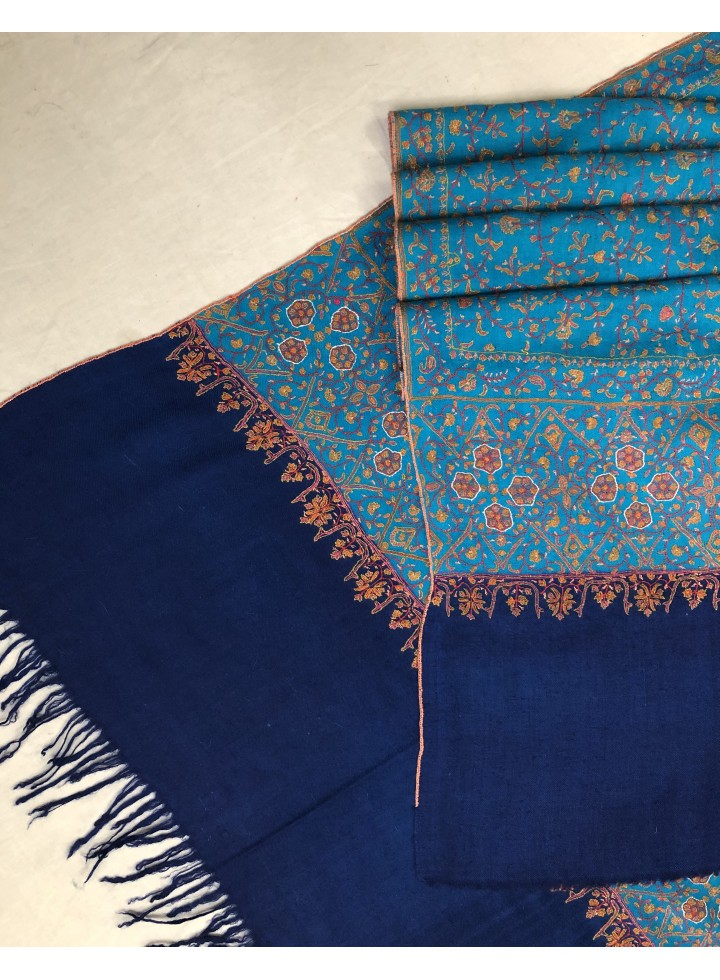 Floral Do-Rukha Full Embroidered Pashmina Shawl