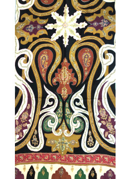 Seamless Paisley Print Embroidered Cashmere Pashmina Stole