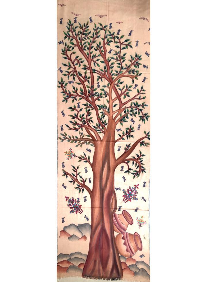 Tree Of Life Kalamkari Cashmere Pashmina Stole