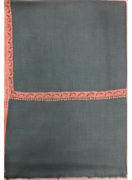 Pashmina Beryl Green Border Embroidery Stole