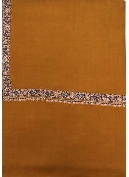 Pashmina Honey Ginger Border Embroidery Stole