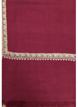 Pashmina Persian Red Border Embroidery Stole