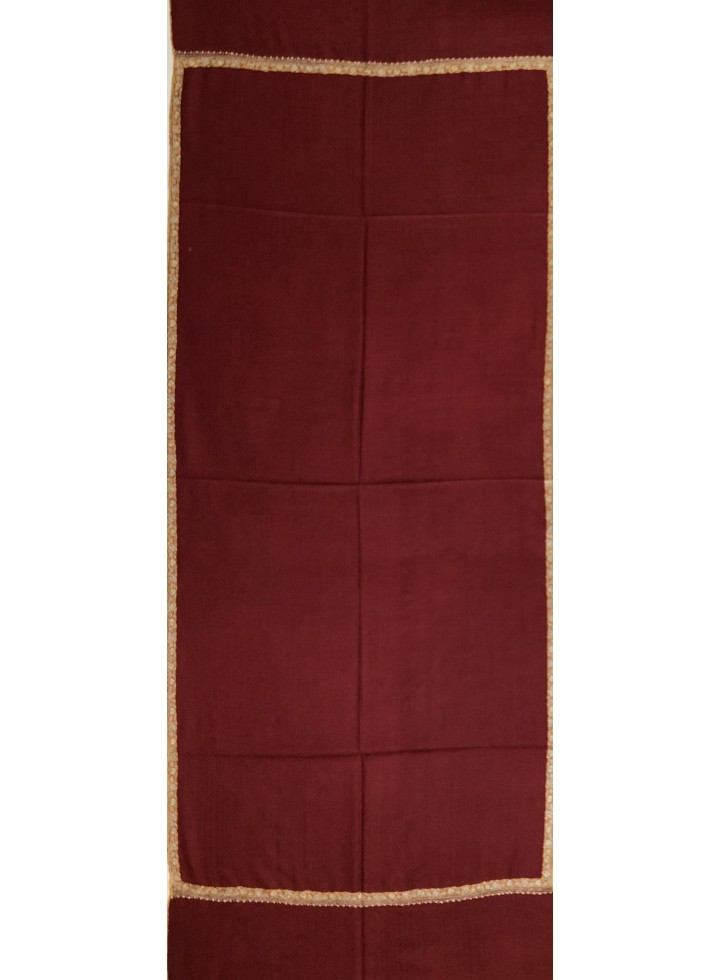 Pashmina Sun-Dried Tomato Border Embroidery Stole