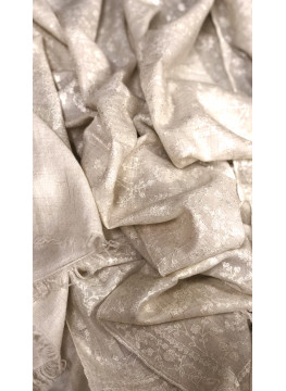 White Tone On Tone Sozni Embroidery Jaldar Cashmere Pashmina Stole