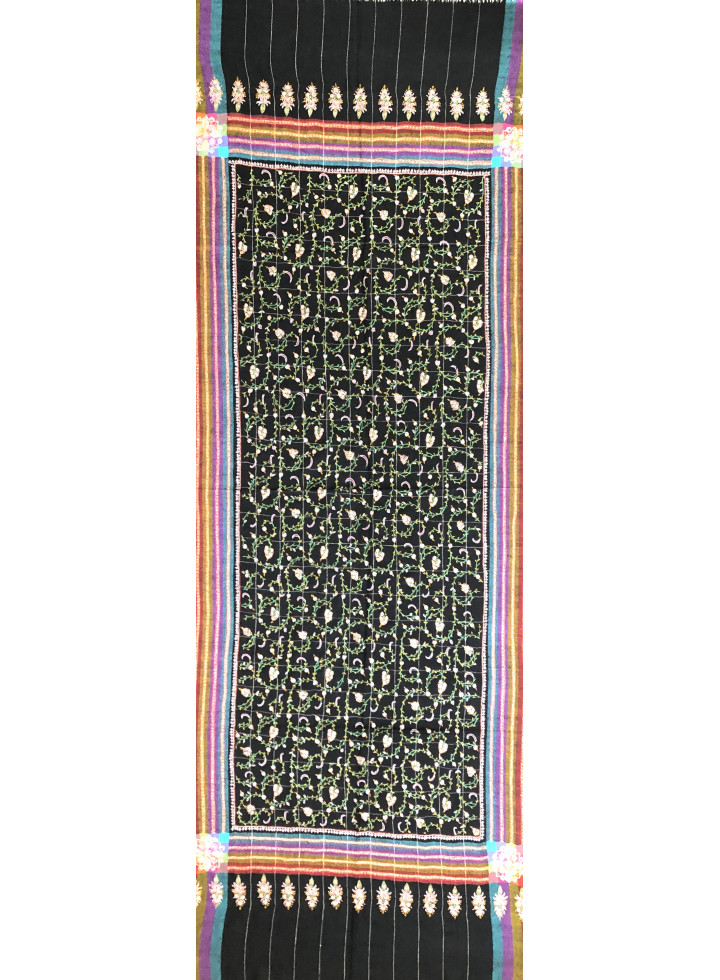 Seamless Jazzy Sozni Embroidered Cashmere Pashmina Stole