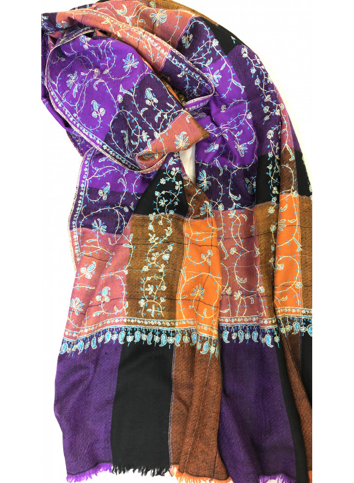 Shades Of Life Sozni Embroidered Cashmere Pashmina stole