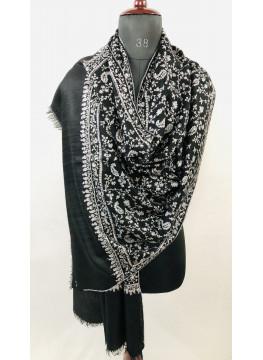 Phantom Luxurious Sozni Embroidery Jaal Genuine Cashmere Pashmina Stole