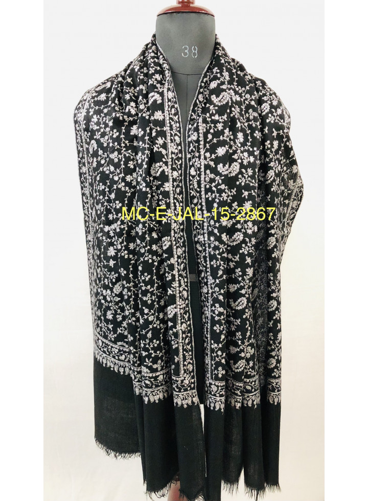 Phantom Luxurious Sozni Embroidery Jaal Genuine Cashmere Pashmina Stole