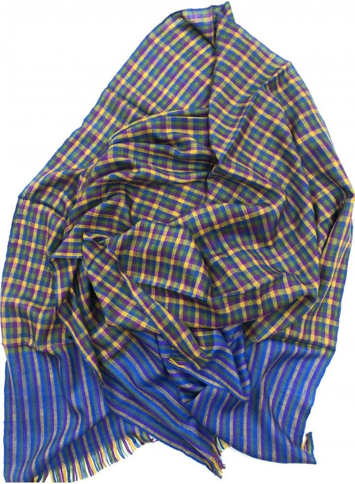 Pashmina Blue Shephered Check Stole