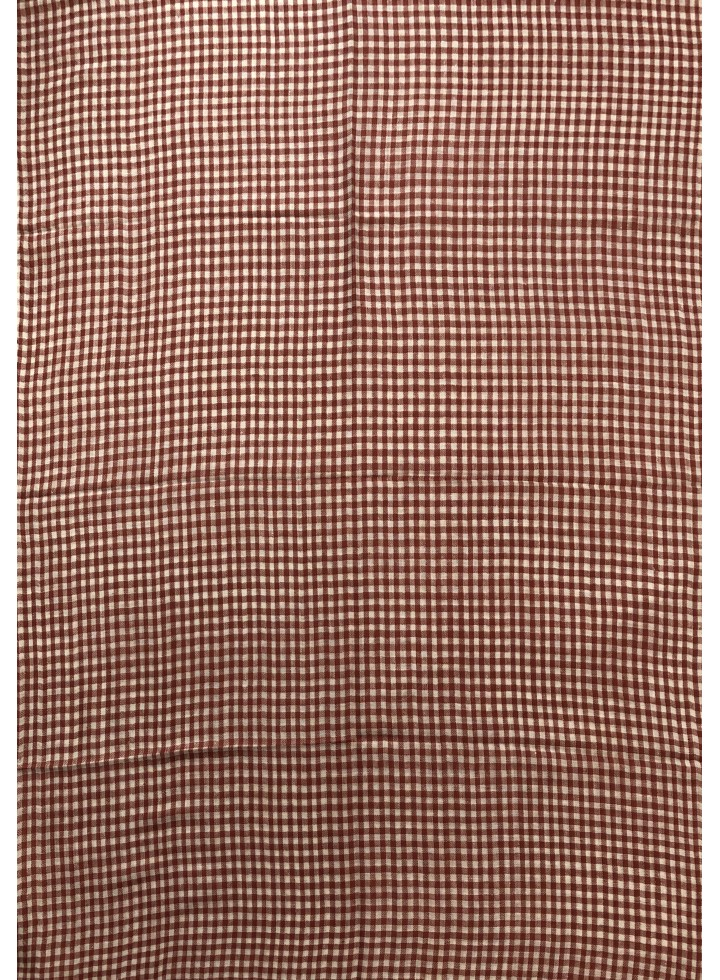 Pashmina Rust Gingham Stole