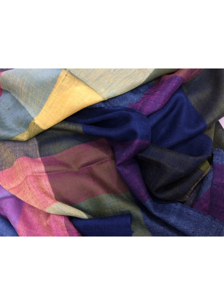 Pashmina Multi-Colour Checkered Stole